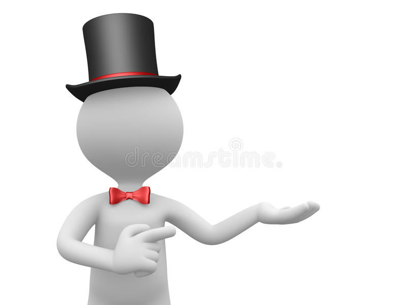 Download Gentleman stock illustration. Image of cartoon, bow, conceptual - 32143975