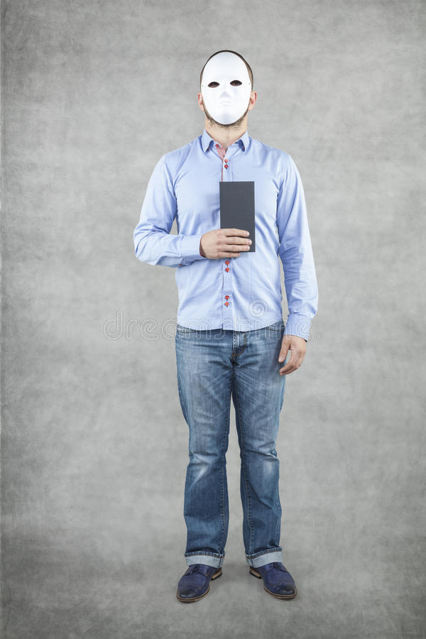 Gentleman with envelope. Businessman and his bribe stock photo