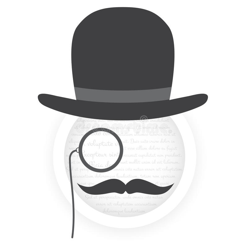 Download Gentleman face stock vector. Image of gentleman, fashion - 34924254