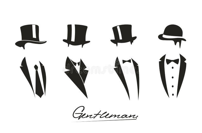 Gentleman icon on white background. On the image presented Gentleman icon on white background royalty free illustration