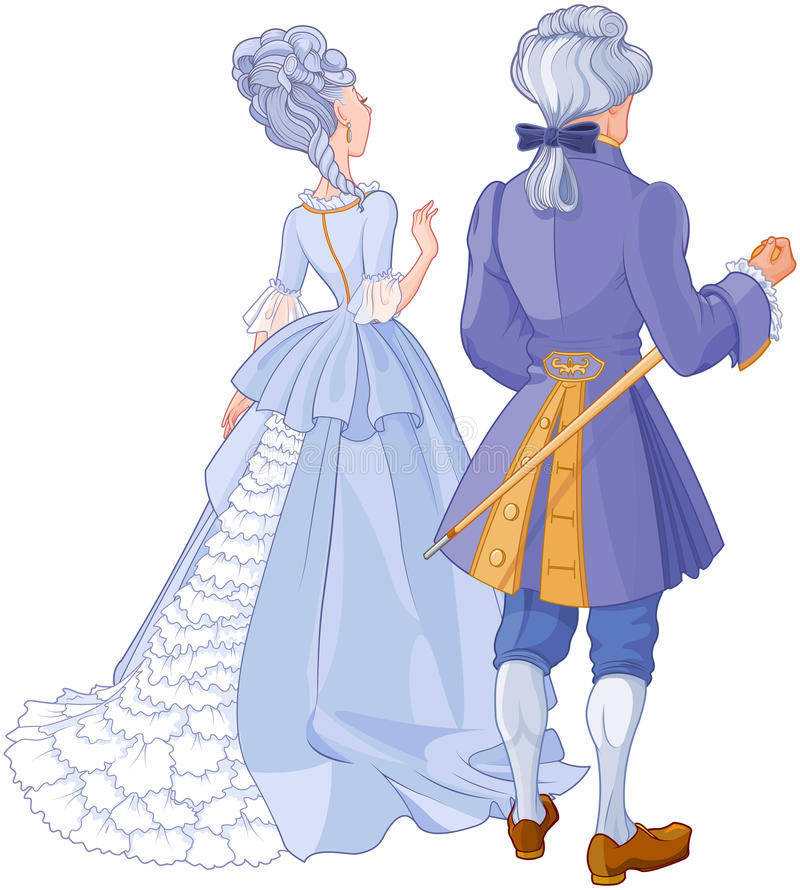 Gentleman and Lady royalty free illustration