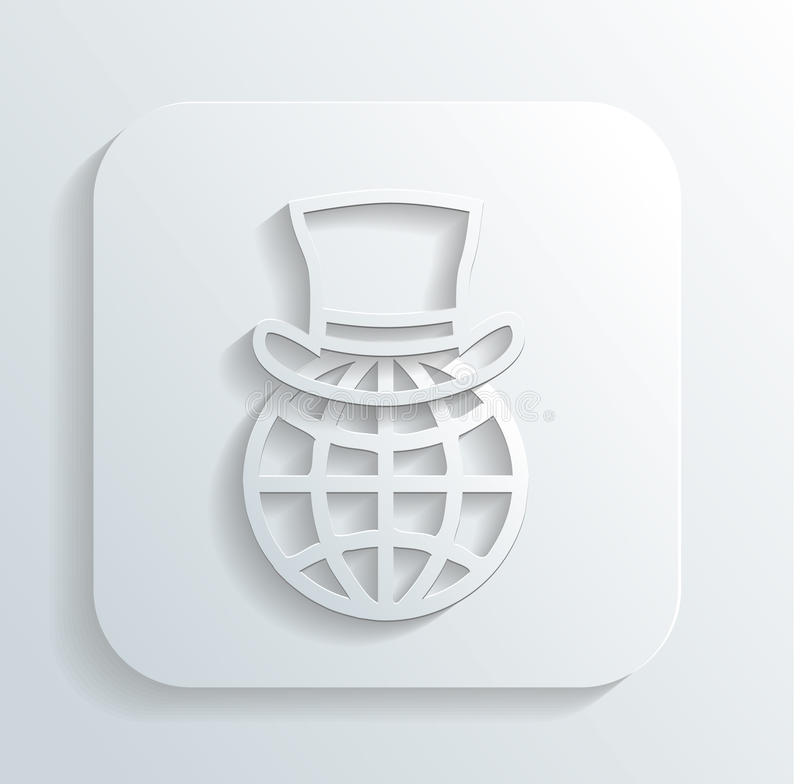Download Gentleman's Hat On A Globe Icon Vector Stock Vector - Illustration: 32827641