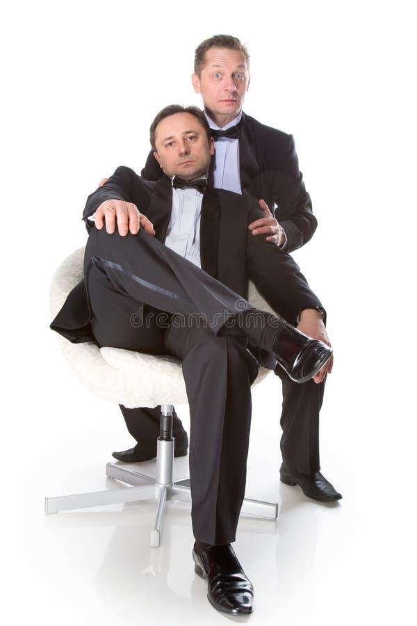 gentleman två royaltyfri fotografi