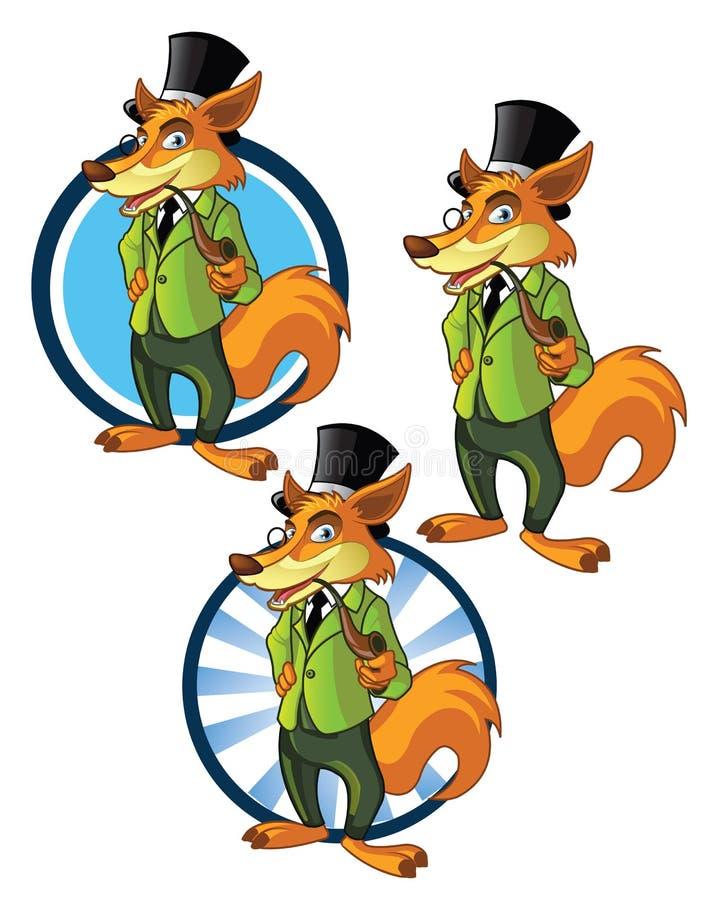 Download Gentleman Wolf Mascot stock illustration. Image of identity - 31170318