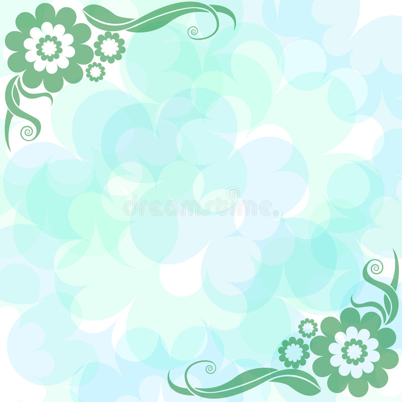 Download Gently Blue Background With Flowers Stock Vector - Image: 13994324