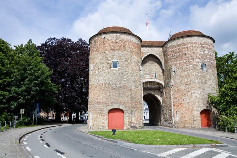 Gentpoort, Bruges fotos de stock royalty free