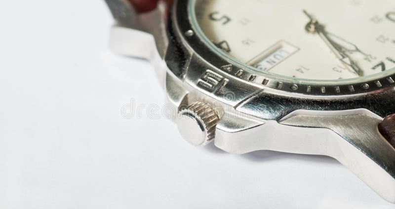 Gents wristwatch detail stock photo