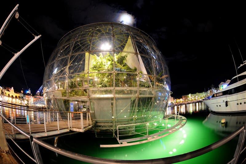 Genua-Aquarium im Kanal lizenzfreie stockbilder