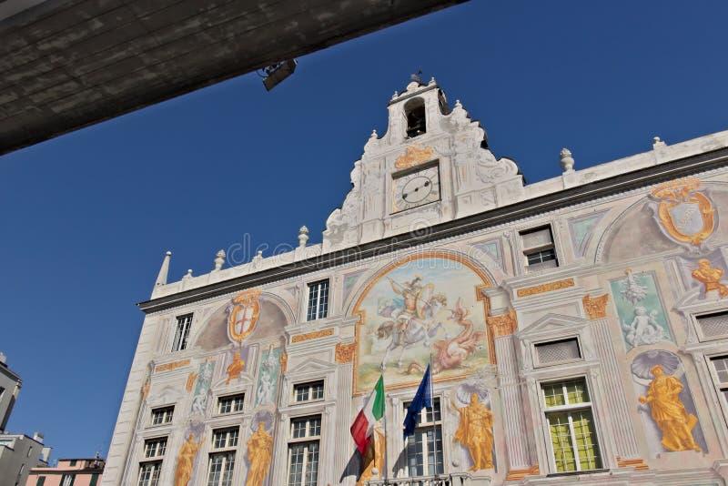 genua Palast von San Giorgio und die Hochstraße stockbild
