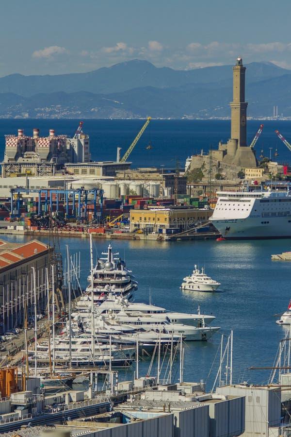 Genua port w Włochy fotografia stock