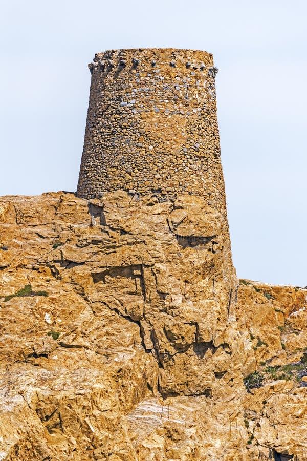 Genueńczyka wierza Pietra wysepka w Corsica obraz stock