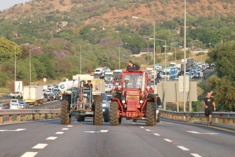 Genug-sein-genug, Antilandwirtmordkampagne Rustenburg, Süd lizenzfreies stockfoto