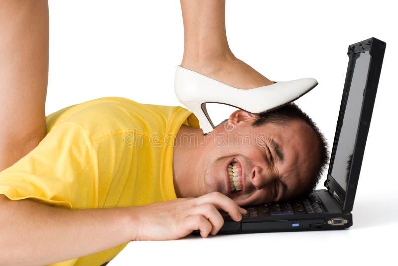 Genug von Computerarbeit! lizenzfreies stockbild