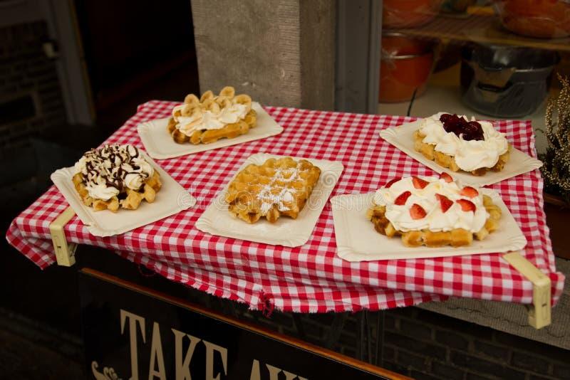 Genuine Belgian Waffles royalty free stock image