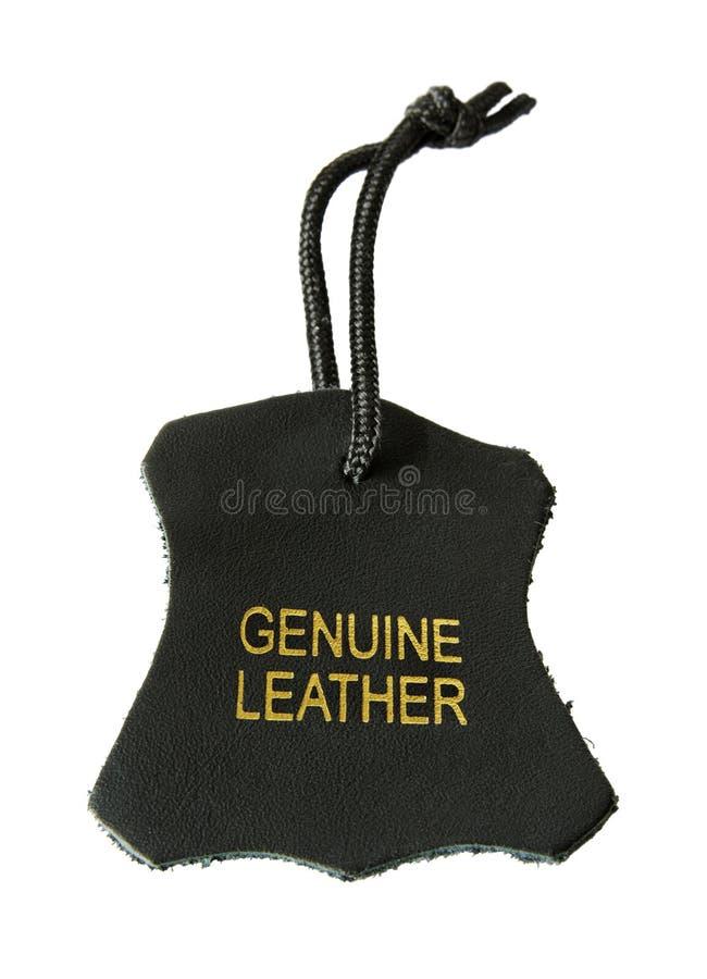 Genuine leather label stock photos