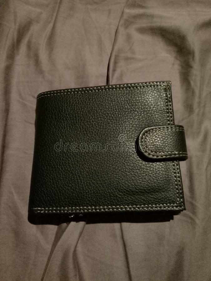 Genuine leather nice fabulous wallet royalty free stock photos