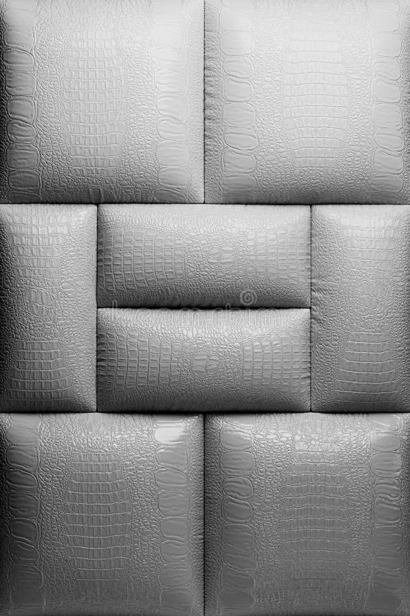Genuine leather upholstery stock images