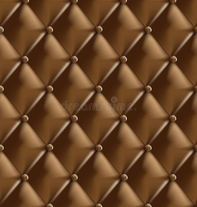 Genuine leather upholstery royalty free illustration