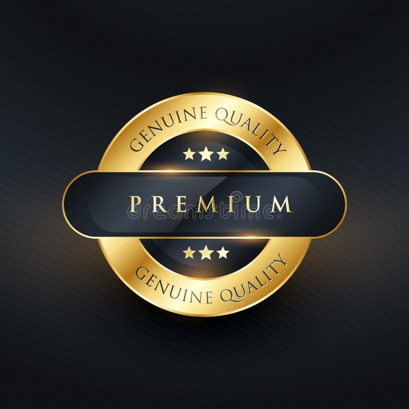 genuine premium quality golden label design royalty free illustration