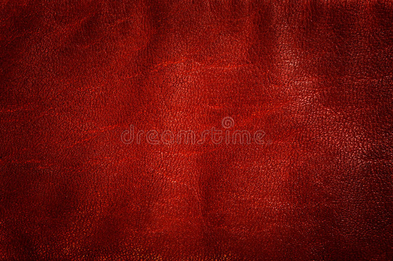 Genuine red leather background, pattern, texture. royalty free stock photos