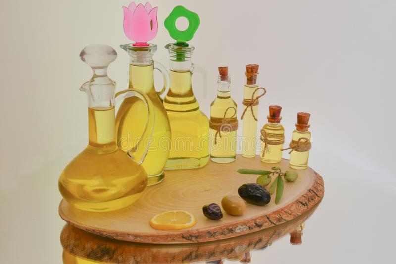 Genuine virgin olive oil royalty free stock photo