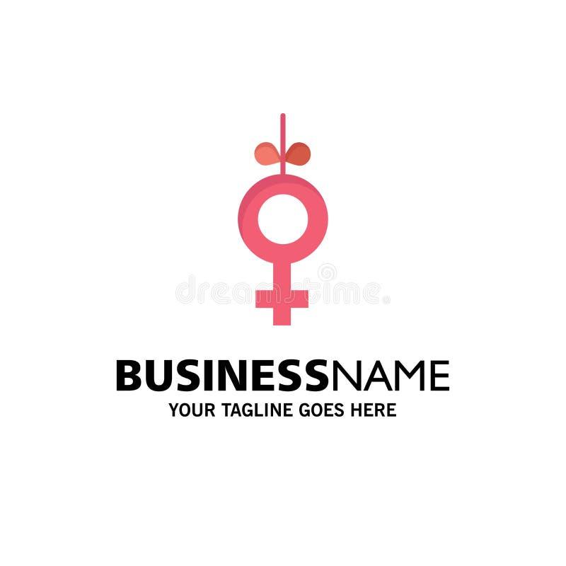 Genus symbol, bandaffär Logo Template plan f?rg stock illustrationer