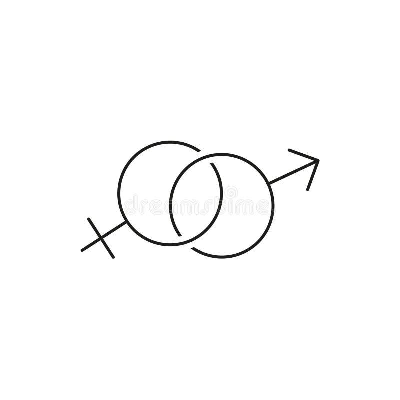 Genus två för kvinna- och mansymbolsloremipsum vektor illustrationer