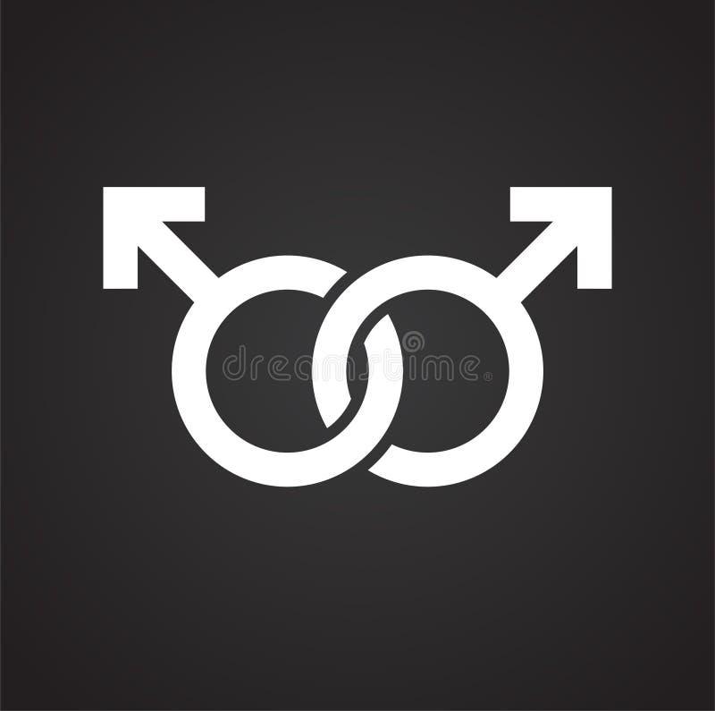 Genussymbol p? bakgrund f?r diagram och reng?ringsdukdesign Enkelt vektortecken Internetbegreppssymbol f?r websiteknapp eller stock illustrationer