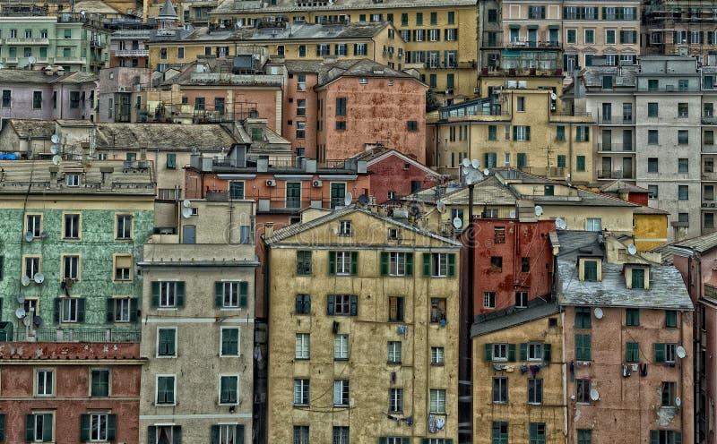 Genuy schronienie mieści pejzaż miejski panoramę zdjęcia stock