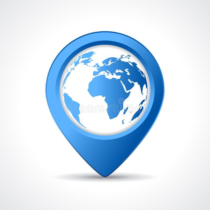 Geo地图别针 皇族释放例证