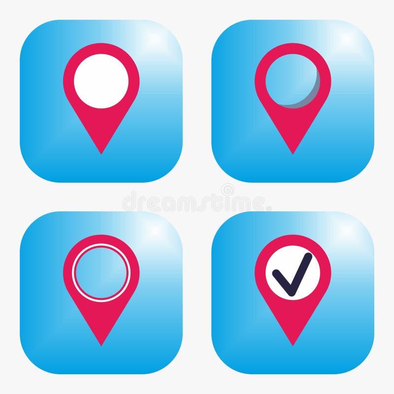 Geo标记象 库存例证