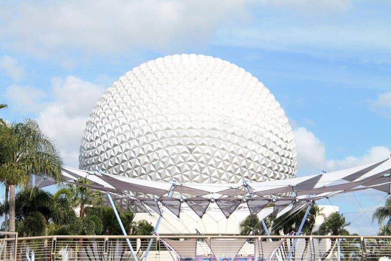 Geo dome at Epcot in Orlando stock photos