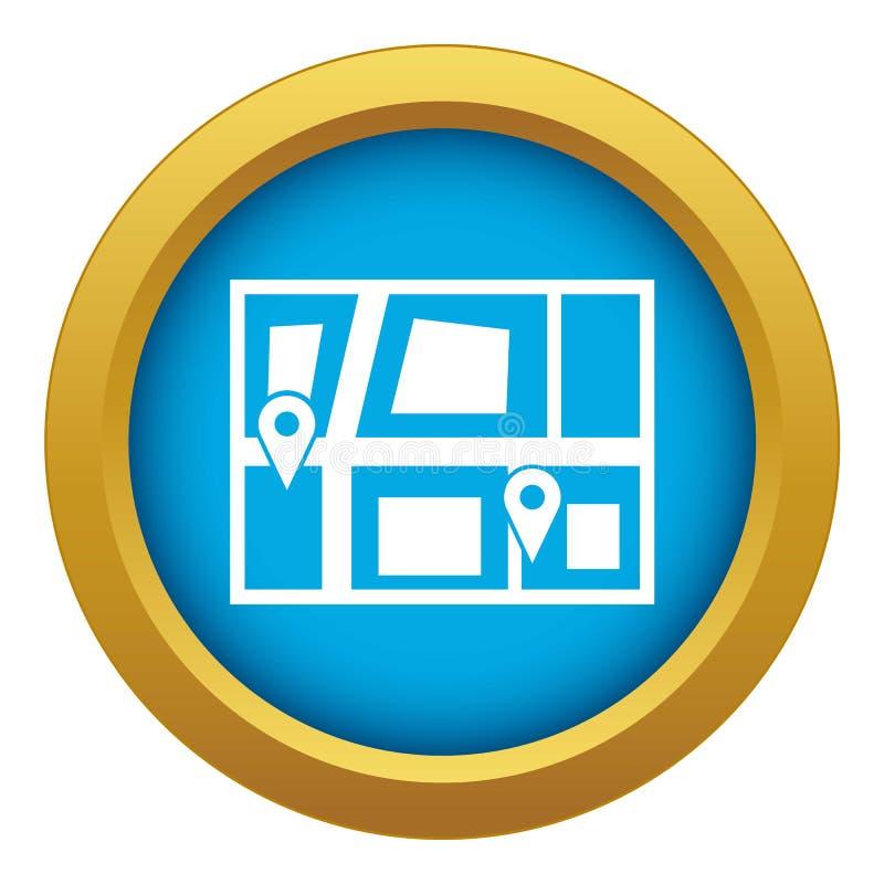 Geo-plaats van de blauwe geïsoleerde vector van het taxipictogram stock illustratie