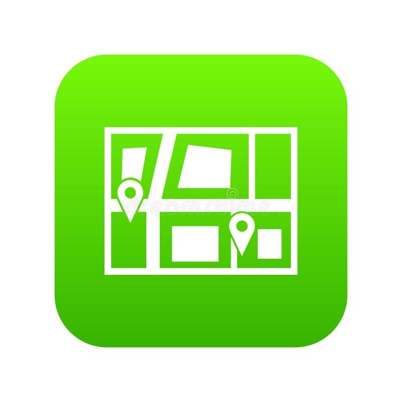 Geo-plaats van digitale groen van het taxipictogram royalty-vrije illustratie