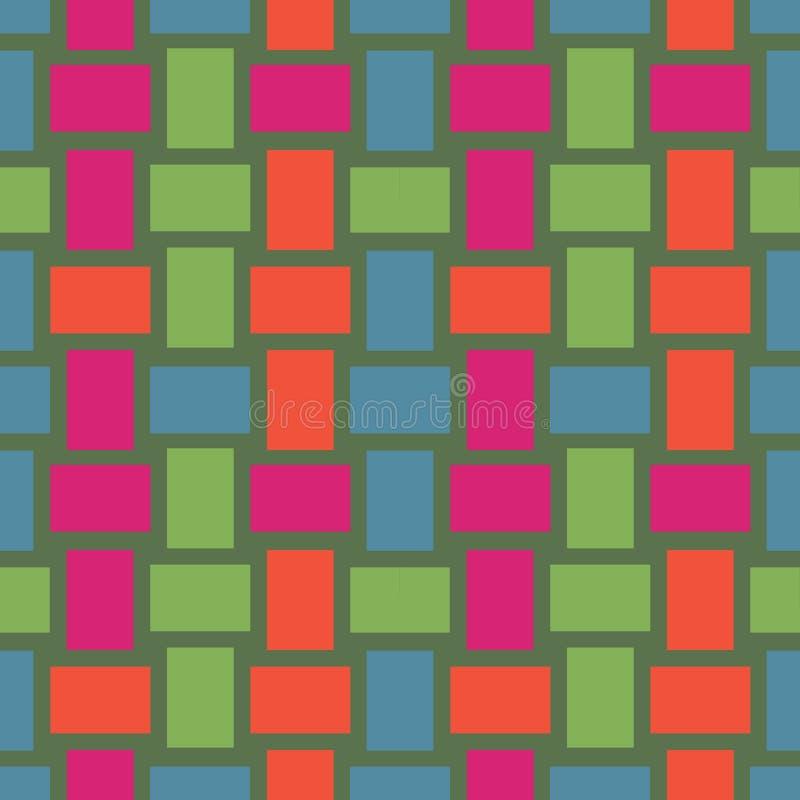 Geo sömlös modell i färg, sömlös vävd vide- texturbakgrund vektor illustrationer