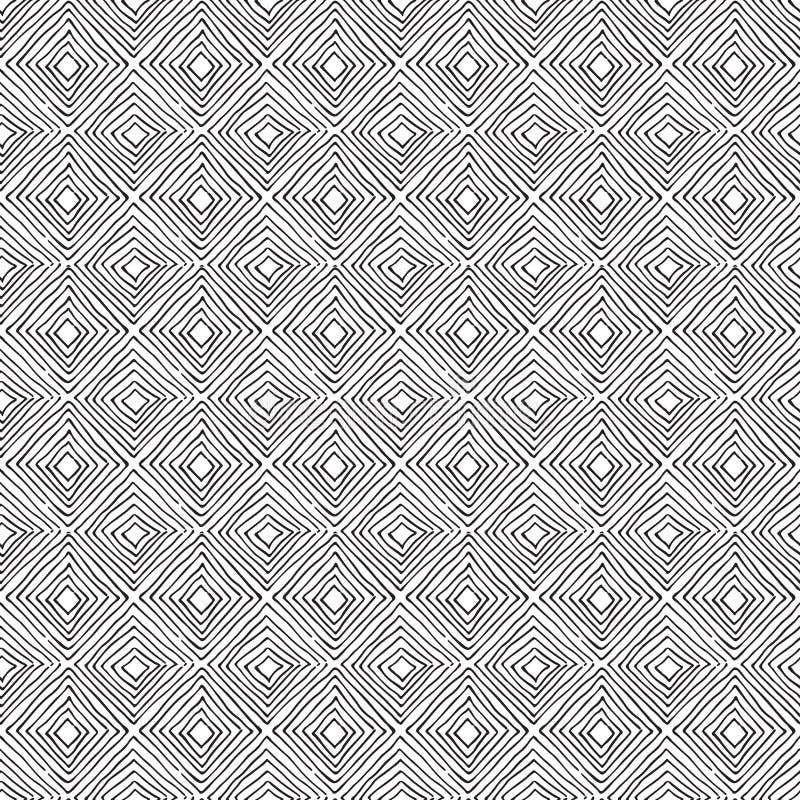 Geo sans couture, modèle géométrique, éléments tirés par la main de diamants illustration de vecteur