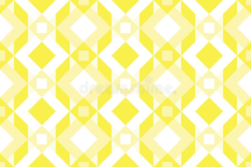 Geo seamless pattern, ethnic ornament, folk motif, seamless fabric print, yellow colorrful geometric background vector illustration