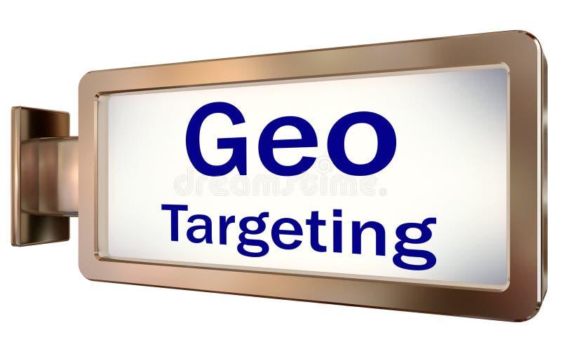 Geo som uppsätta som mål på affischtavlabakgrund vektor illustrationer
