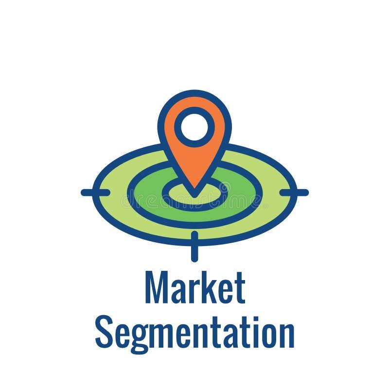 Geo-Standort-Anvisieren - GPS Positionierung und Geolocations-Ikone lizenzfreie abbildung