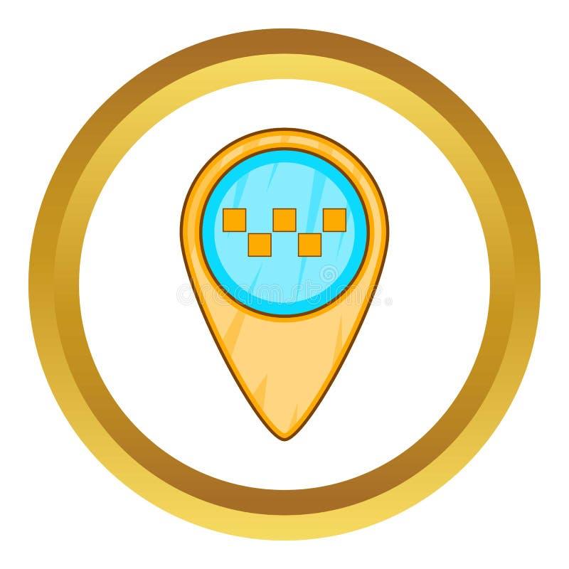 Geo taxisymbol stock illustrationer