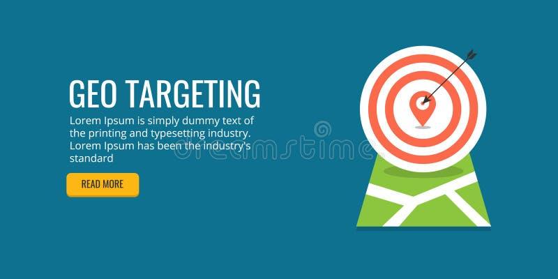 Geo uppsätta som mål - lokal affärsoptimization Plant designbaner royaltyfri illustrationer
