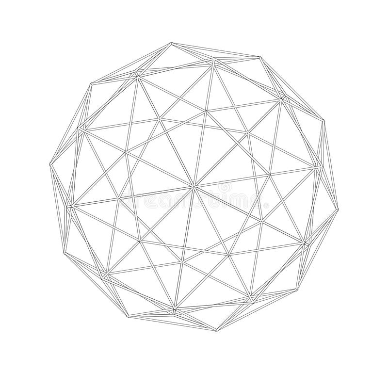 Geodäsiegitter ineinandergreifen Heilige Geometrie vektor abbildung