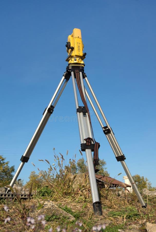 Geodätischer Tachymeter stockbild