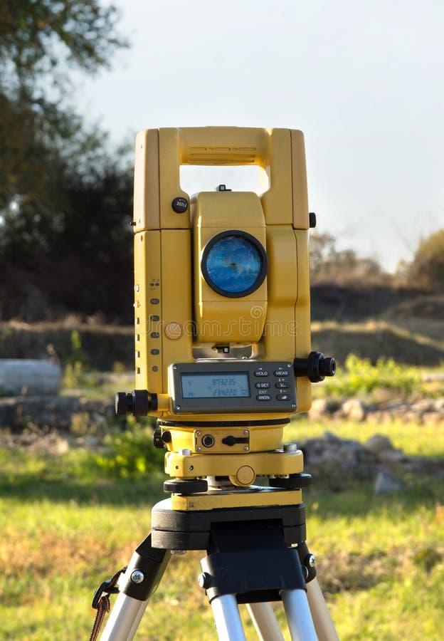 Geodätischer Tachymeter lizenzfreie stockfotografie