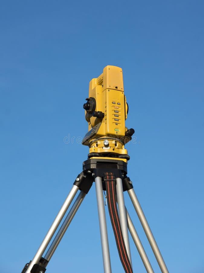 Geodätischer Tachymeter stockfotografie