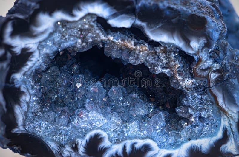 Geodício azul de cuarzo foto de archivo libre de regalías