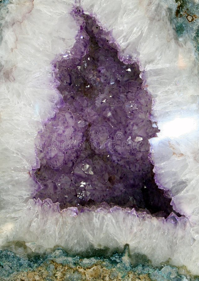 Geode de cristal imagens de stock