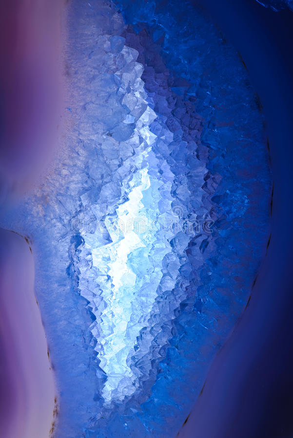 Geode en coupe photos libres de droits