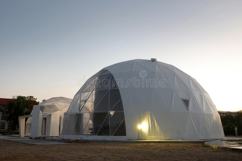 Geodesic dome in Asia. Geodesic dome in Thailand and Asia royalty free stock photos