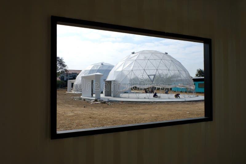 Geodesic plastikowa kopuła obrazy royalty free